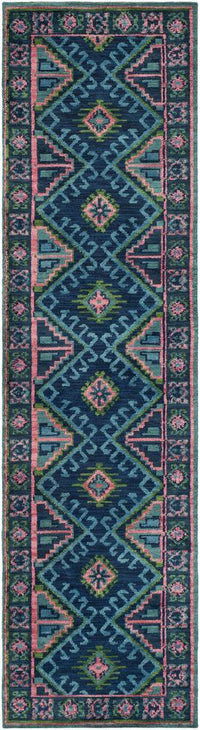 "Adele Bright Blue 2'3"" x 8' Rug"