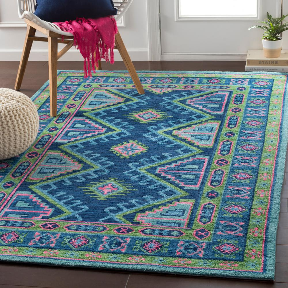 "Adele Bright Blue 8'11"" x 12' Rug"