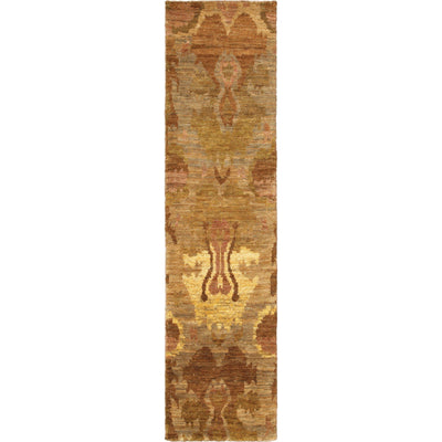 "Tommy Bahama Home Ansley 50903 Beige/Orange-Area Rug-Tommy Bahama Home-2' 6"" X 10' 0""-The Rug Truck"