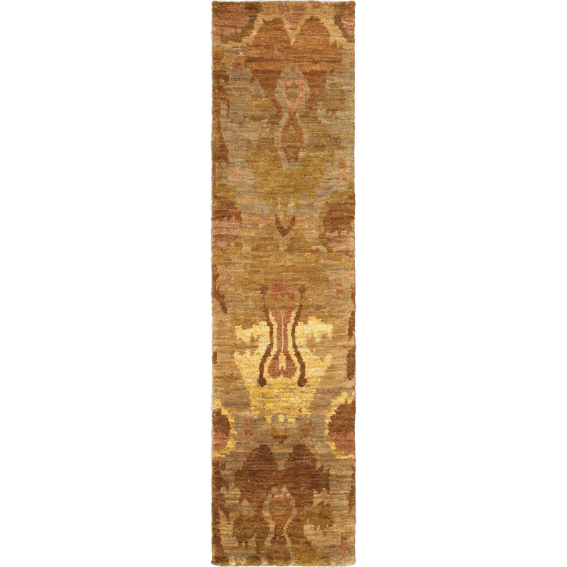 "Tommy Bahama Home Ansley 50903 Beige/Orange-Area Rug-Tommy Bahama Home-3' 6"" X 5' 6""-The Rug Truck"