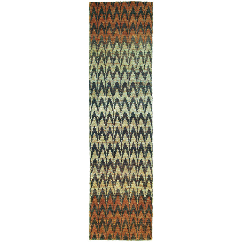 "Tommy Bahama Home Ansley 50908 Brown/Blue-Area Rug-Tommy Bahama Home-3' 6"" X 5' 6""-The Rug Truck"