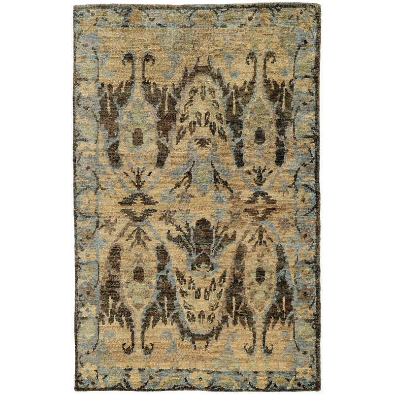 "Tommy Bahama Home Ansley 50912 Blue/Grey-Area Rug-Tommy Bahama Home-3' 6"" X 5' 6""-The Rug Truck"