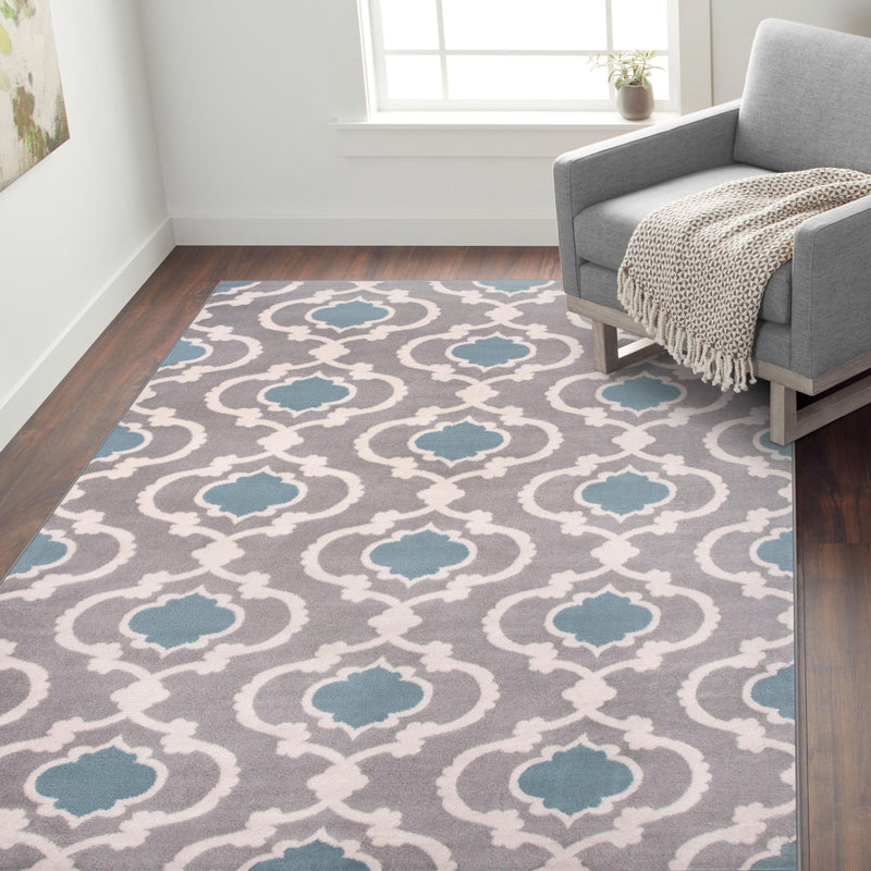 Toscana 310 Blue/Grey Area Rug-Area Rug-World Rug Gallery-2' x 3'-The Rug Truck