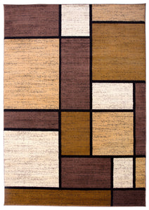 "Alpine 106 Brown Area Rug-Area Rug-World Rug Gallery-3'3"" x 5'-The Rug Truck"