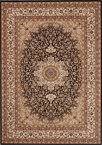 "Berkshire Ardebil Black-Area Rugs-The Rug Truck-2' 7"" x 7' 10'-The Rug Truck"