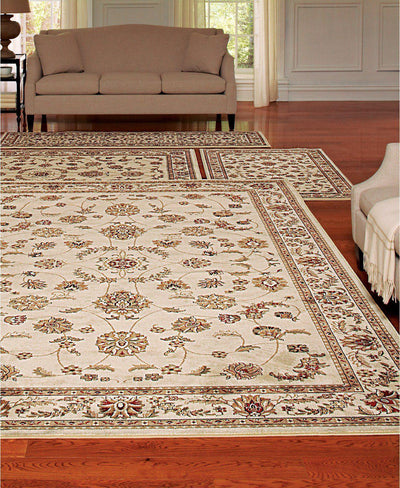 Florence Isfahan Ivory-Area Rugs-KM Home-4 Piece Set-The Rug Truck