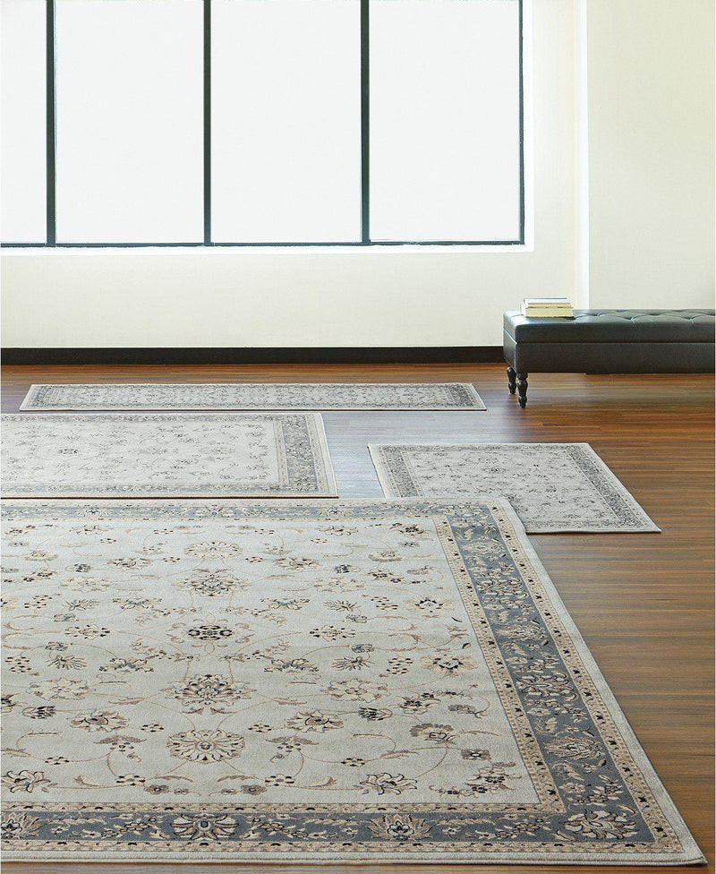 Florence Isfahan Soft Mint-Area Rugs-KM Home-4 Piece Set-The Rug Truck
