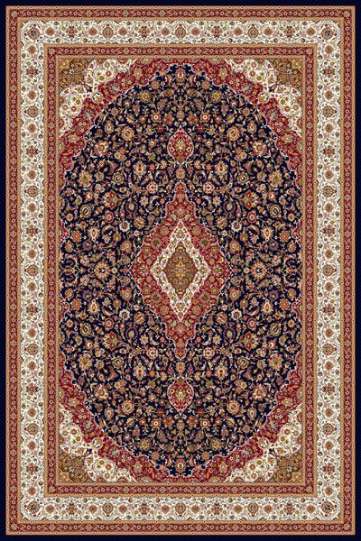 Persian Treasures - Kashan - Navy-Area Rugs-Kenneth Mink Home-2' x 3 '-The Rug Truck