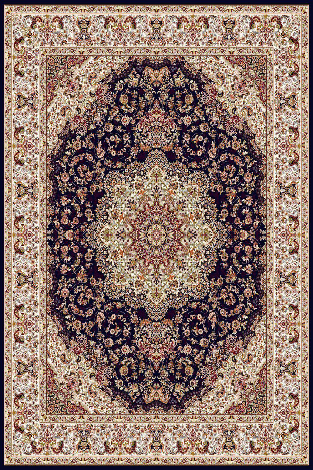 Persian Treasures - Shah - Navy-Area Rugs-Kenneth Mink Home-2' x 3 '-The Rug Truck