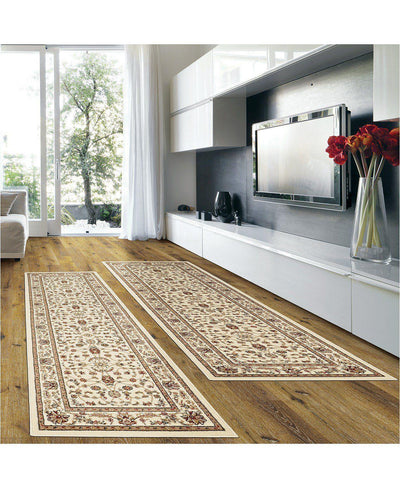 Prato Isfahan White-Area Rugs-KM Home-2 Piece Runner Pack-The Rug Truck