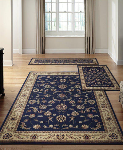 Roma Isfahan Blue-Area Rugs-KM Home-3 Piece Set-The Rug Truck