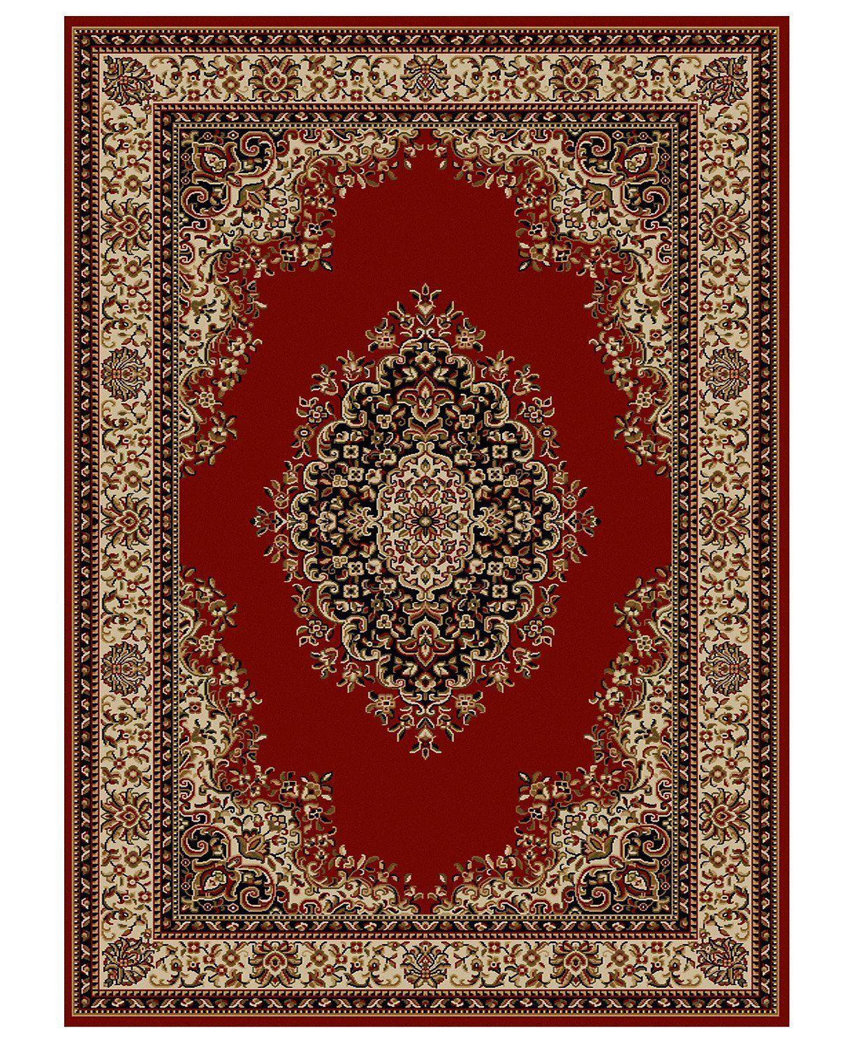 Roma Kerman Red-Area Rugs-KM Home-3 Piece Set-The Rug Truck