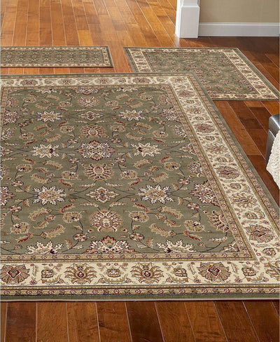 Roma Meshed Sage-Area Rugs-KM Home-3 Piece Set-The Rug Truck