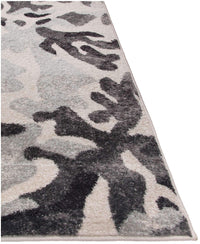 Steelo Bloom Silver-Area Rugs-Kenneth Mink Home-The Rug Truck