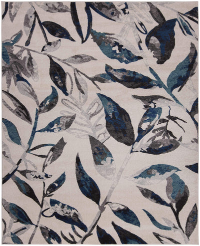 Steelo Leaves Turquoise-Area Rugs-Kenneth Mink Home-5' x 8'-The Rug Truck
