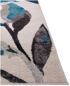 Steelo Leaves Turquoise-Area Rugs-Kenneth Mink Home-The Rug Truck