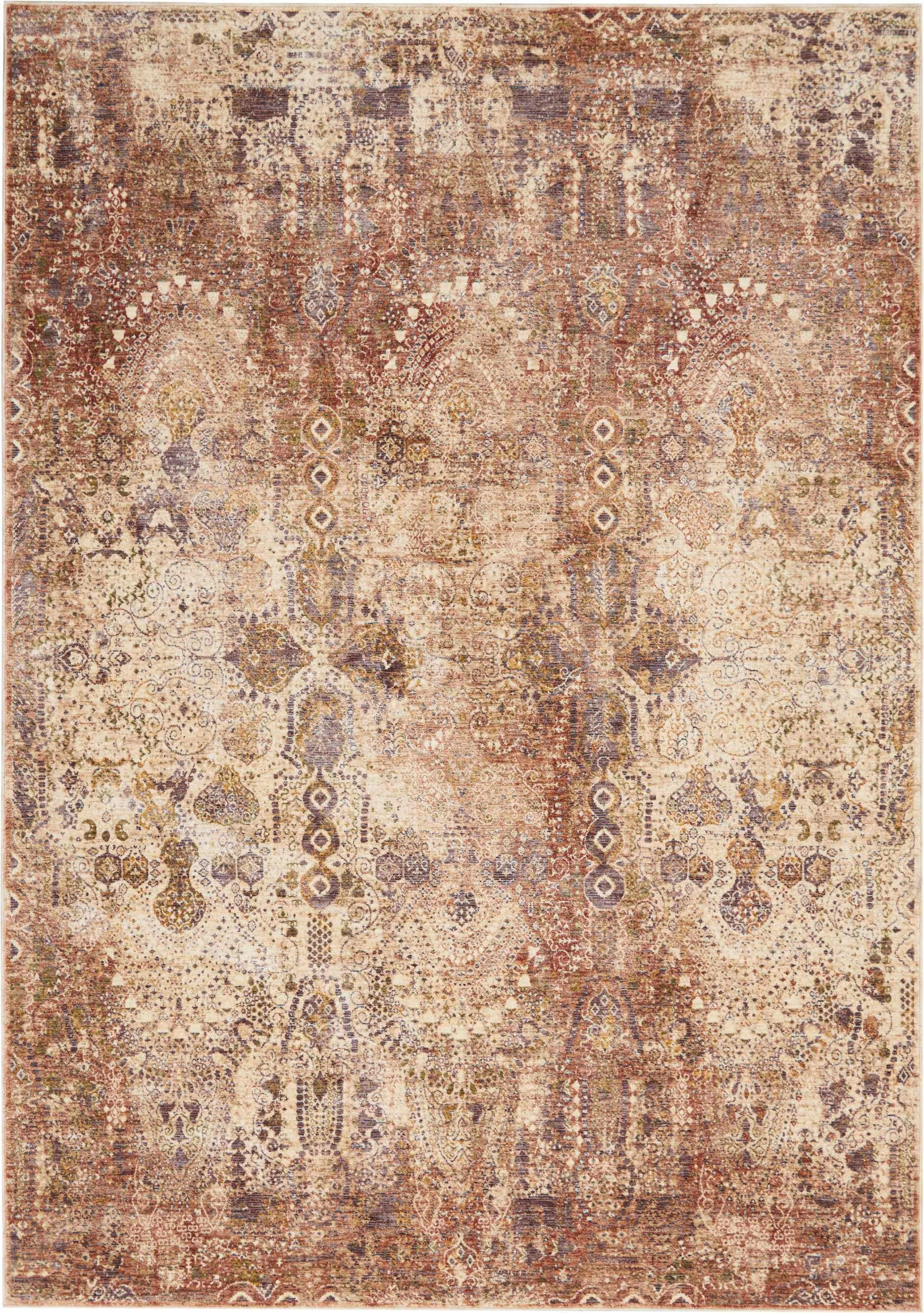 Taza TAZ01 Lavar Red-Area Rugs-Kenneth Mink Home-3' x 5'-The Rug Truck