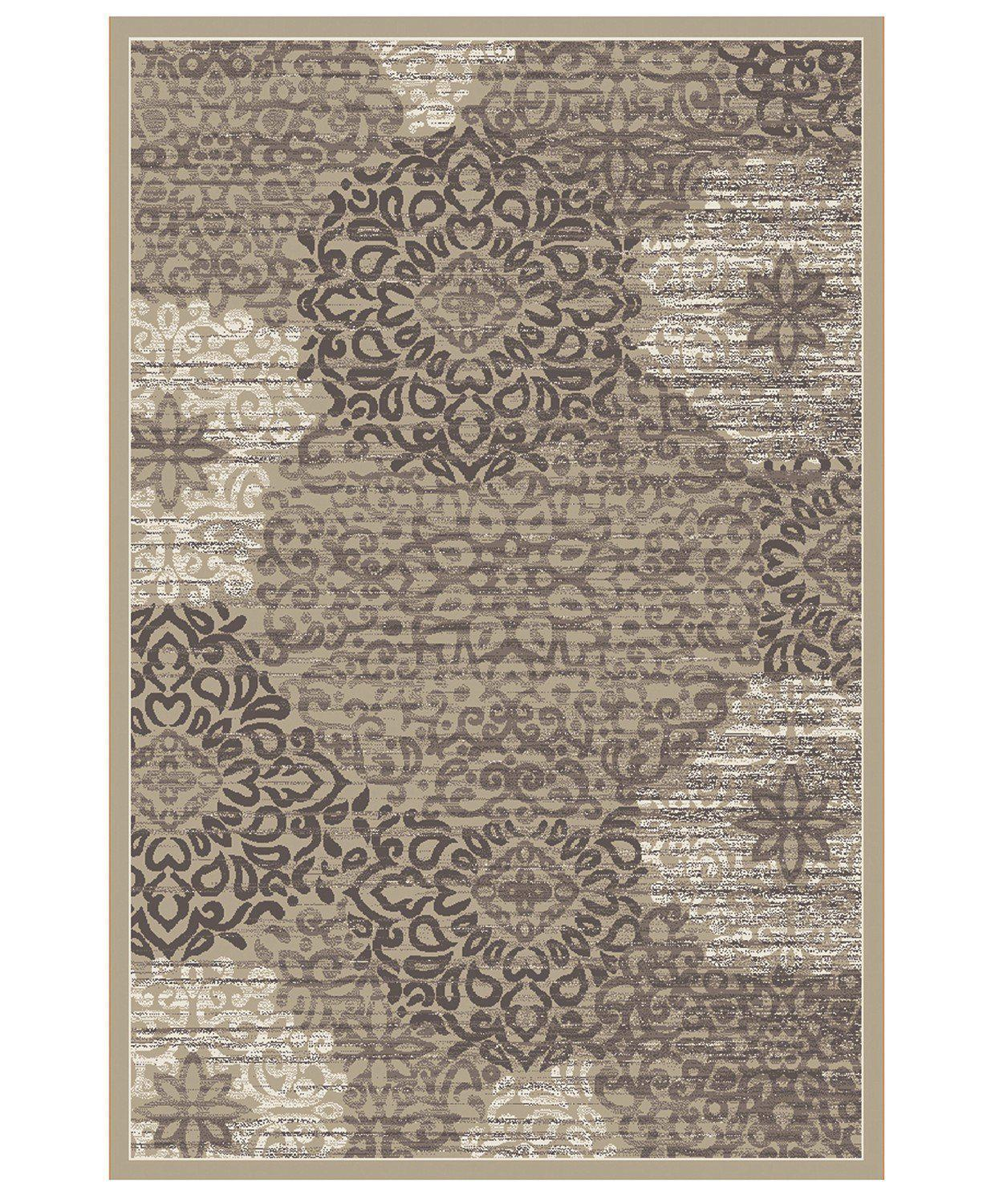 Teramo Intrigue Beige-Area Rugs-KM Home-2' 02'' x 7' 07''-The Rug Truck