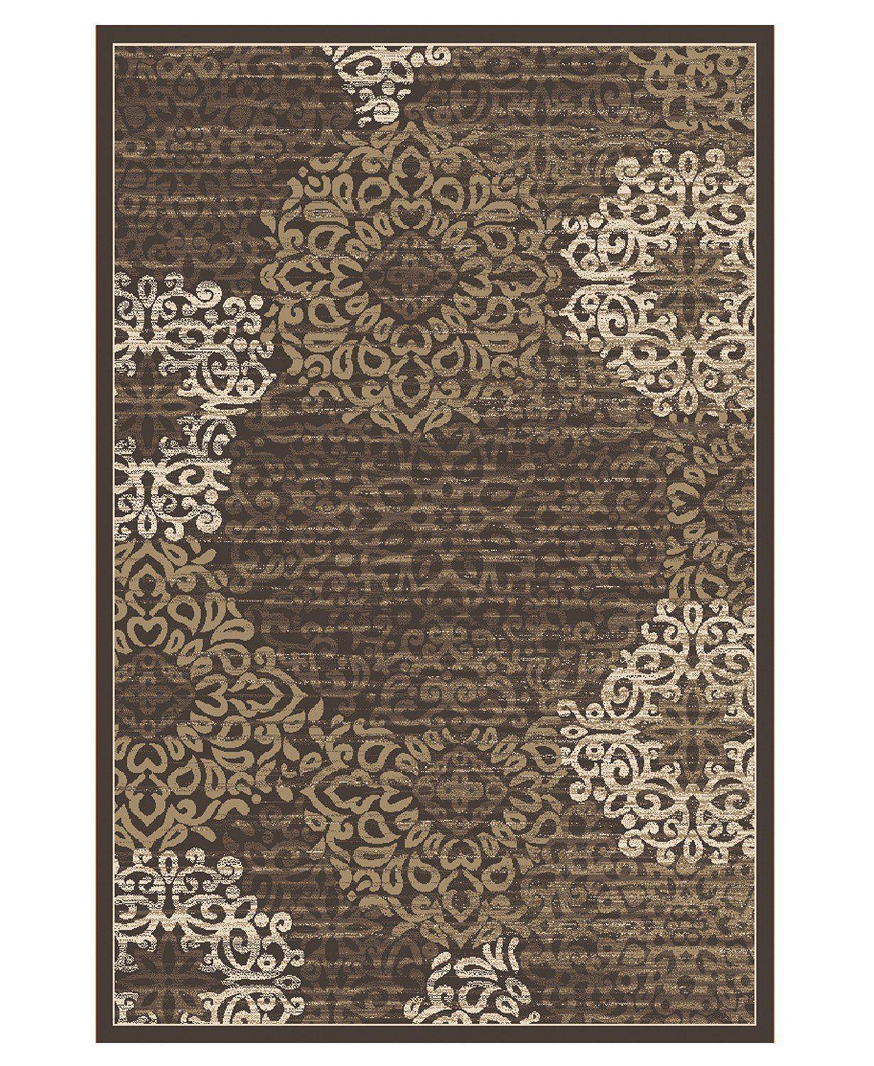 Teramo Intrigue Brown-Area Rugs-KM Home-2' 02'' x 7' 07''-The Rug Truck