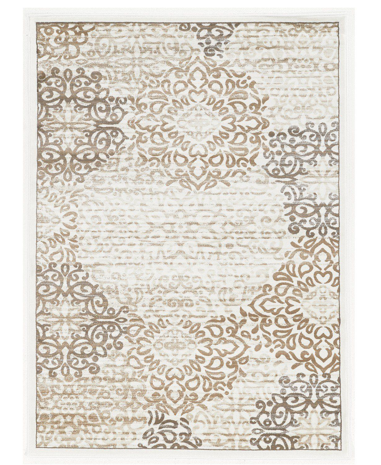 Teramo Intrigue White-Area Rugs-KM Home-The Rug Truck