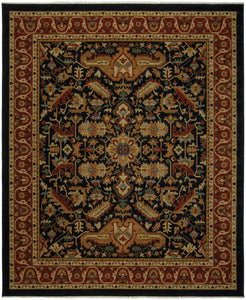 Heirloom Serapi Navy/Rust-Area Rugs-The Rug Truck-2' x 3'-The Rug Truck