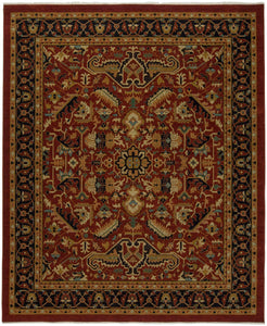 Heirloom Serapi Rust/Navy-Area Rugs-The Rug Truck-2' x 3'-The Rug Truck