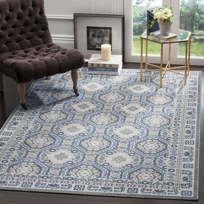 Safavieh Artisan 320 Silver / Blue-Area Rug-Safavieh-The Rug Truck
