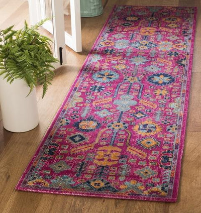 Safavieh Artisan 336 Fuchsia / Multi-Area Rug-Safavieh-The Rug Truck