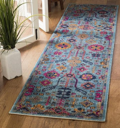 Safavieh Artisan 336 Light Blue / Multi-Area Rug-Safavieh-The Rug Truck