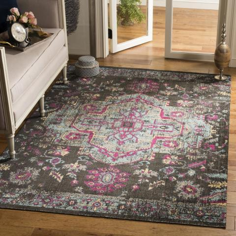 Safavieh Artisan 507 Black / Light Blue-Area Rug-Safavieh-The Rug Truck