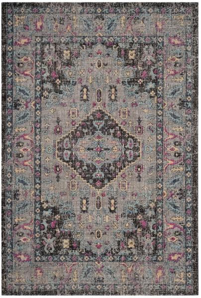 Safavieh Artisan 512 Light Grey / Black-Area Rug-Safavieh-The Rug Truck