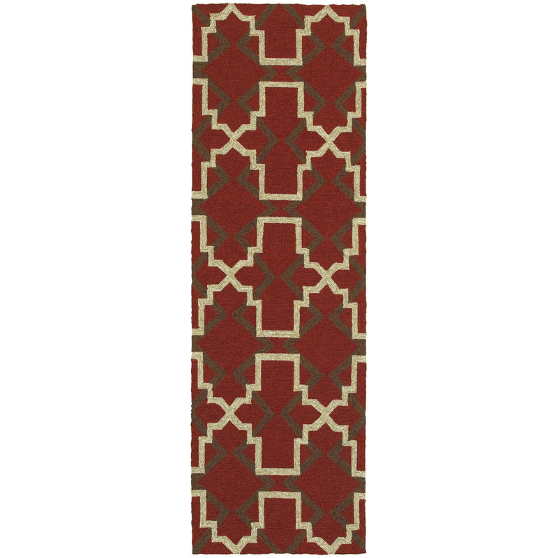 "Tommy Bahama Home Atrium 51103 Red/Brown-Area Rug-Tommy Bahama Home-3' 6"" X 5' 6""-The Rug Truck"