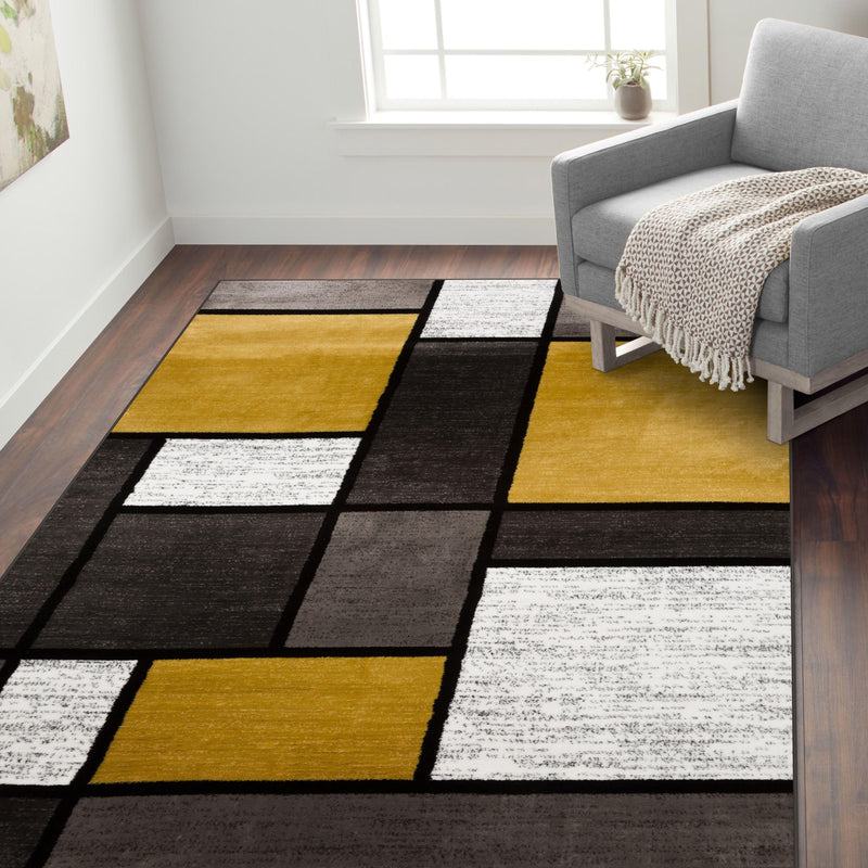 Alpine 106 Yellow Area Rug-Area Rug-World Rug Gallery-2' x 3'-The Rug Truck