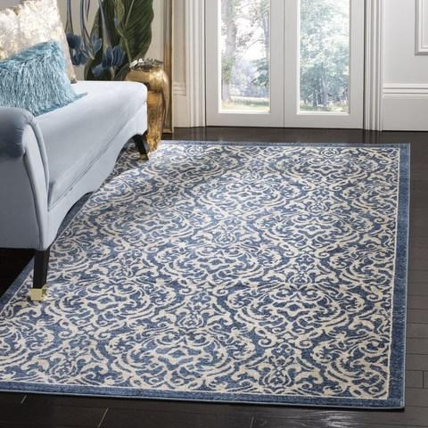 Safavieh Brentwood 810 Navy / Creme-Area Rug-Safavieh-The Rug Truck