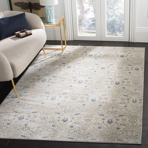 Safavieh Brentwood 860 Light Grey / Blue-Area Rug-Safavieh-The Rug Truck