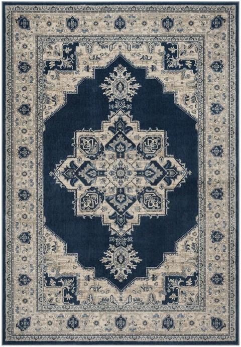 Safavieh Brentwood 865 Navy / Creme-Area Rug-Safavieh-The Rug Truck