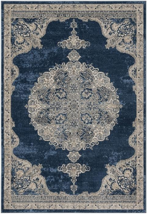 Safavieh Brentwood 867 Navy / Light Grey-Area Rug-Safavieh-The Rug Truck