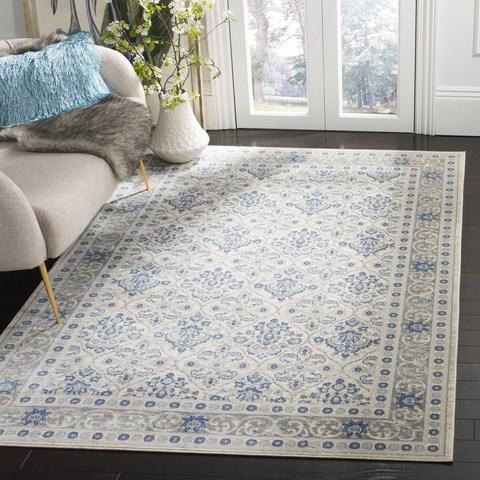 Safavieh Brentwood 870 Light Grey / Blue-Area Rug-Safavieh-The Rug Truck