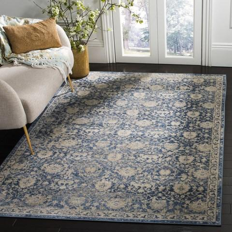 Safavieh Brentwood 896 Navy / Creme-Area Rug-Safavieh-The Rug Truck