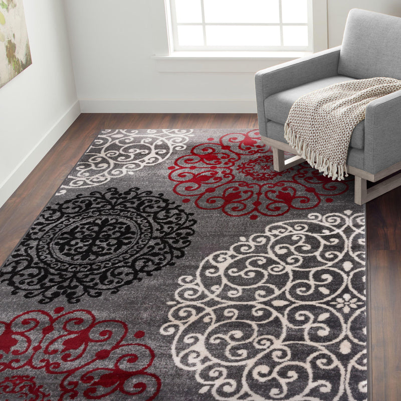 Toscana 303 Red Area Rug-Area Rug-World Rug Gallery-2' x 3'-The Rug Truck