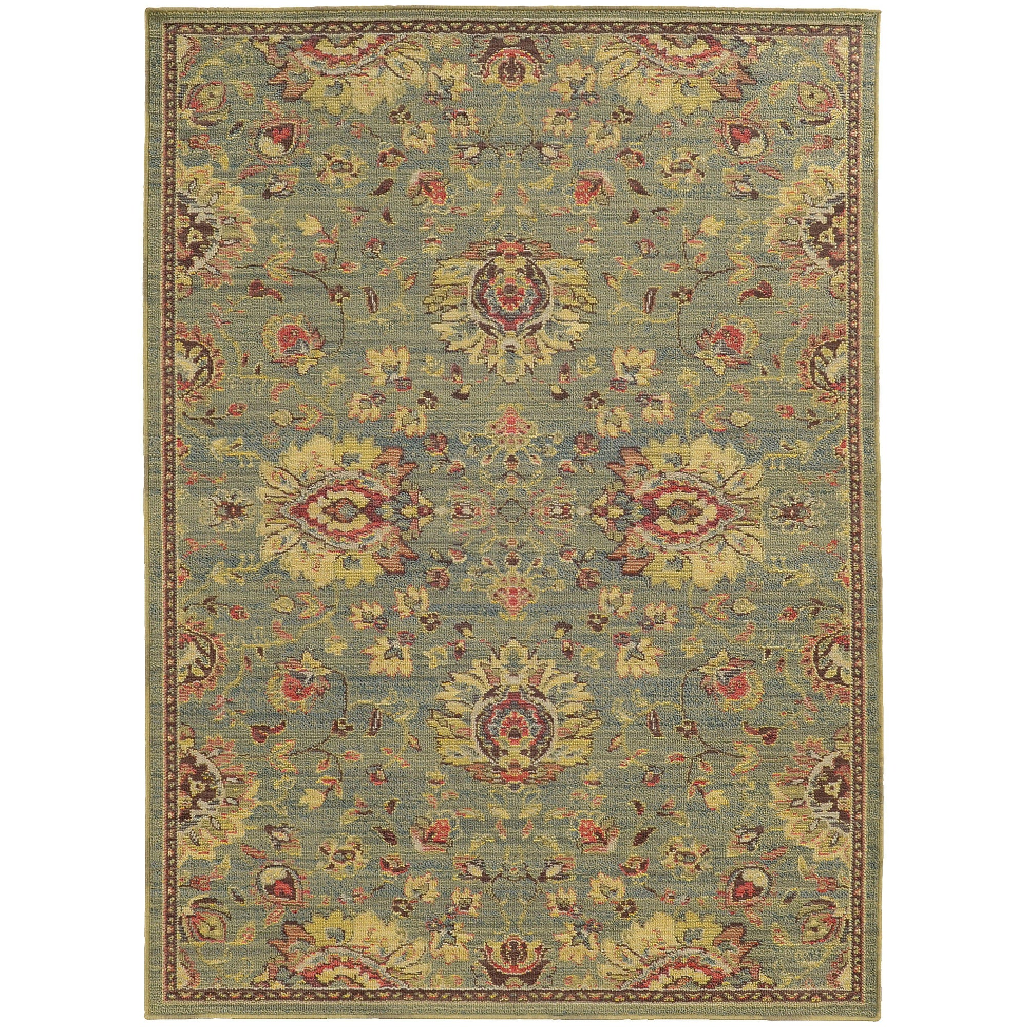 "Tommy Bahama Home Cabana 2l Blue/Beige-Area Rug-Tommy Bahama Home-3'10"" X 5' 5""-The Rug Truck"