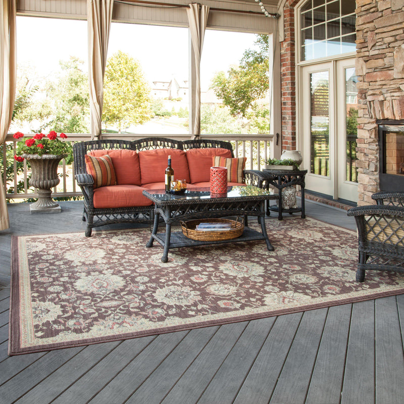 "Tommy Bahama Home Cabana 2n Brown/Beige-Area Rug-Tommy Bahama Home-3'10"" X 5' 5""-The Rug Truck"