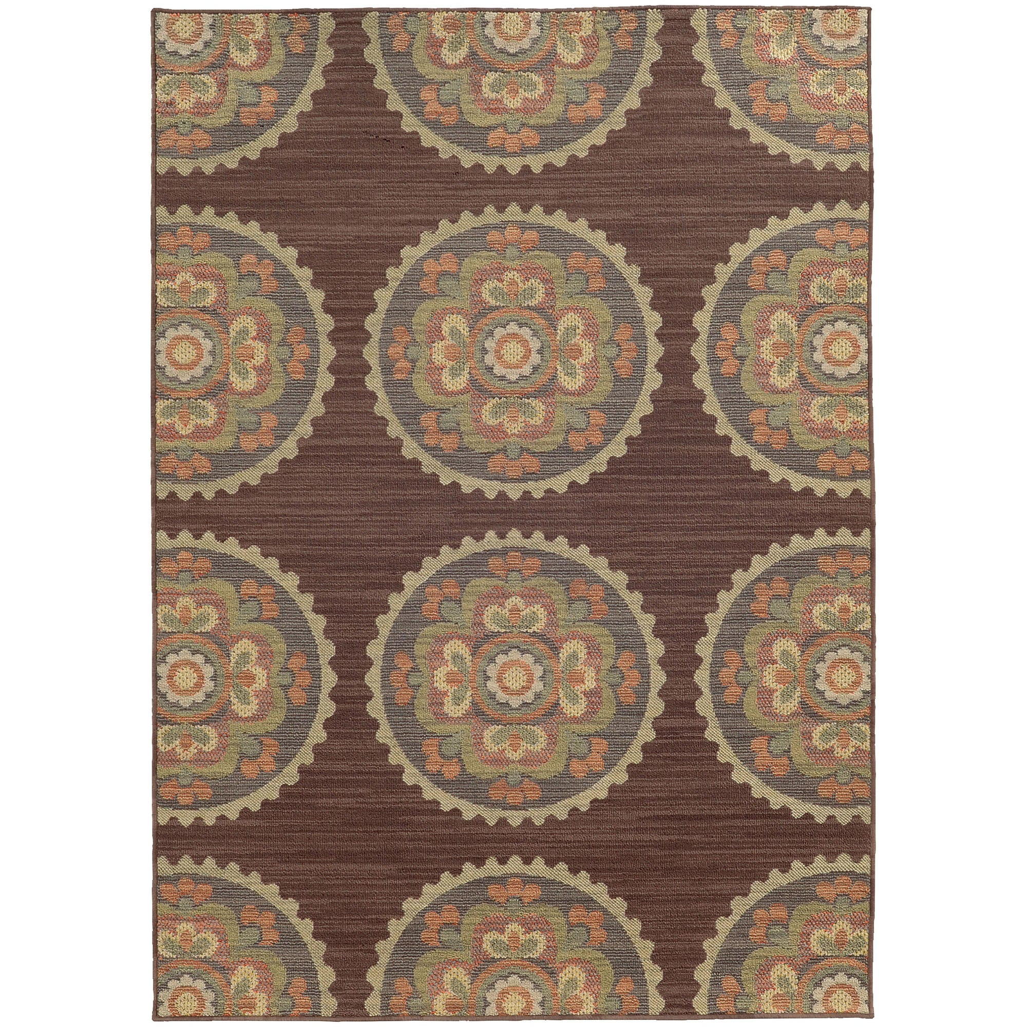 "Tommy Bahama Home Cabana 501m Brown/Multi-Area Rug-Tommy Bahama Home-3'10"" X 5' 5""-The Rug Truck"