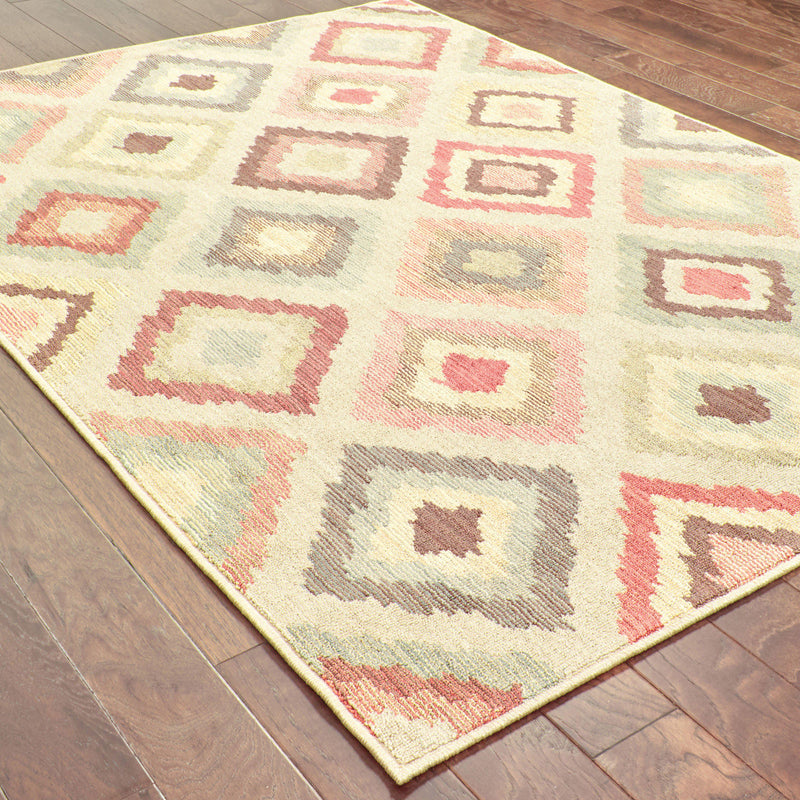 "Tommy Bahama Home Cabana 8022w Beige/Multi-Area Rug-Tommy Bahama Home-3'10"" X 5' 5""-The Rug Truck"