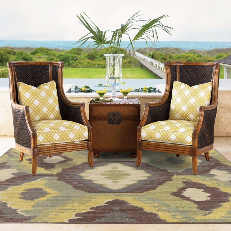 "Tommy Bahama Home Cabana 929n Brown/Blue-Area Rug-Tommy Bahama Home-3'10"" X 5' 5""-The Rug Truck"