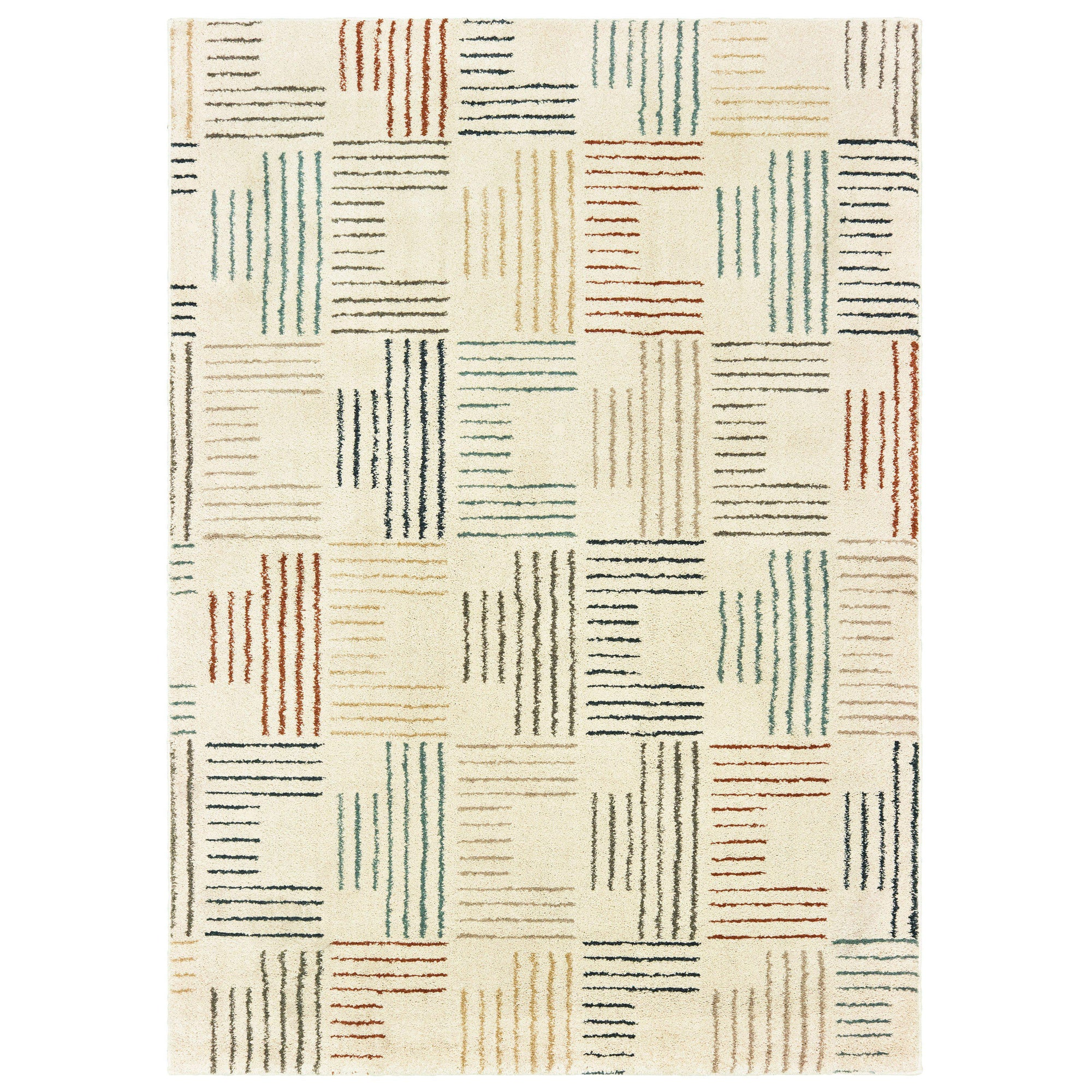 "The Rug Truck Daly 9663a Ivory Area Rug (7'10"" X 10')"