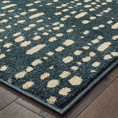 "Daly 9673b Blue Area Rug (7'10"" X 10')"