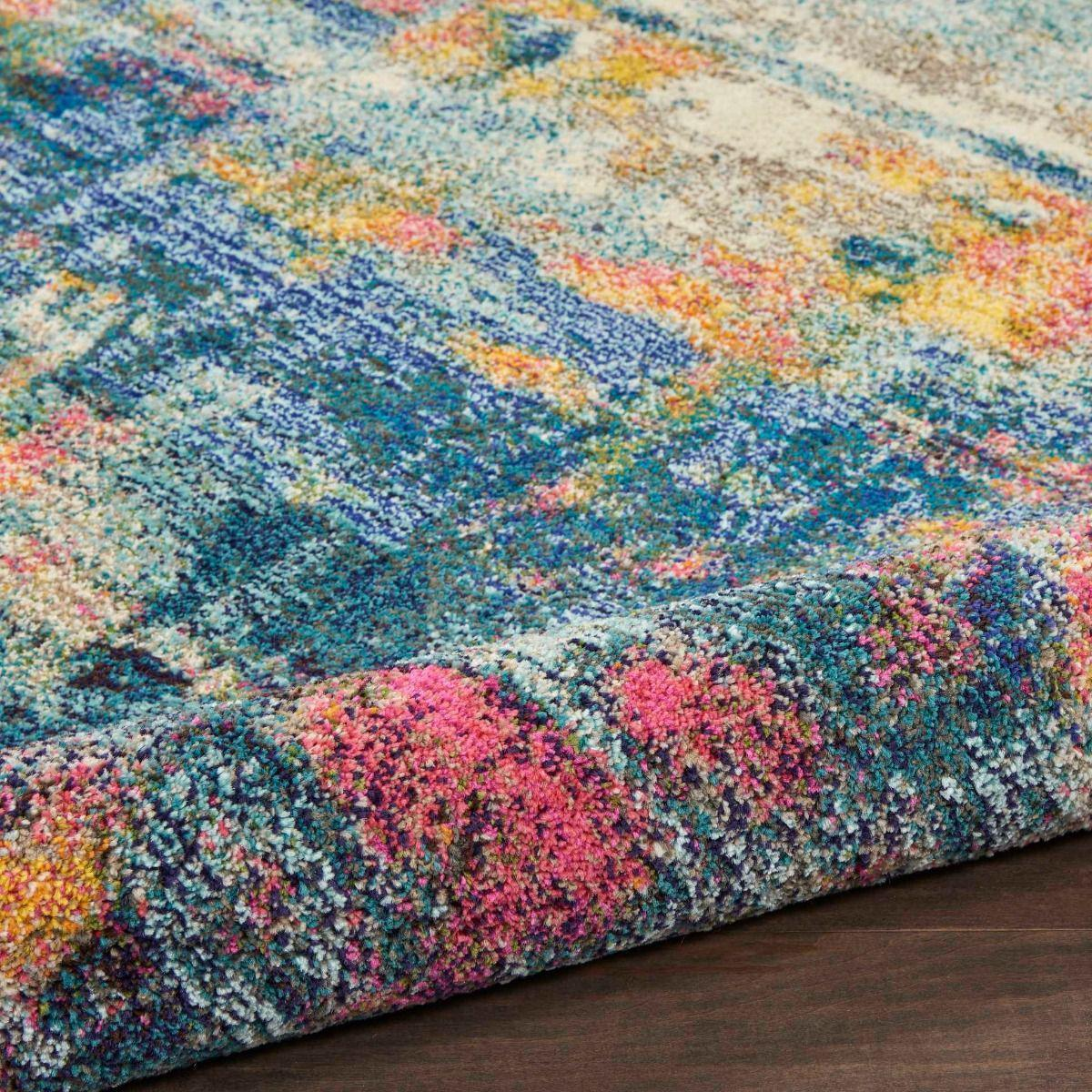 Picture of: Celestial Ces09 Blue Yellow Area Rug The Rug Truck