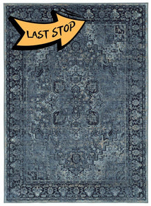 Chromatic Mod Heriz Denim 5 3 X 7 6 Area Rugs