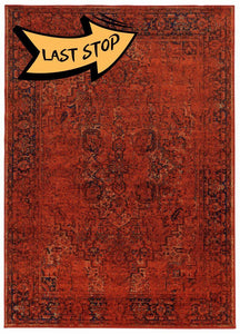 Chromatic Mod Heriz Rust 5 3 X 7 6 Area Rugs